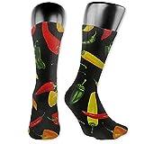 Calcetines deportivos unisex Calcetines con cojín absorbente de chile Calcetines deportivos altos Calcetines largos deportivos Calcetines transpirables cómodos 40cm