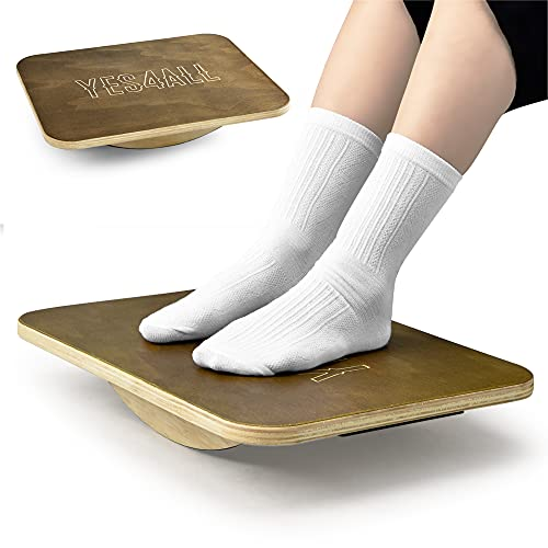 Yes4All Rocker Wooden Balance Board/Vintage Rocker Board Physical Therapy for Enhancing Balance, Strength, Rehabilitation and Office Foot Rest