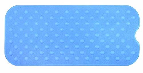 Spirella Duschmatte Anti Rutsch Matte Circola antibakteriell rutschfest waschbar 90x40cm Naturkautschuk PVC Frei Blau