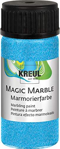 KREUL Marmorierfarbe Magic Marble 20ml Osterei färben tauch-marmorieren Metallic-Blau