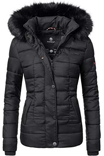 Marikoo Damen Winter Jacke Steppjacke Unique Schwarz Gr. L
