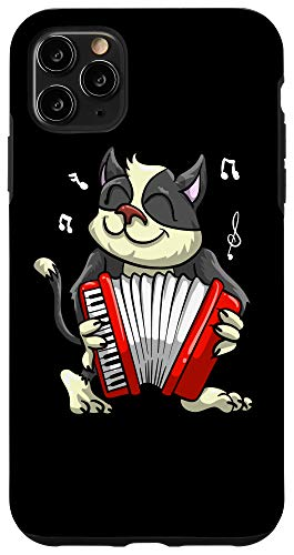 iPhone 11 Pro Max Funny Cat Playing Accordion | Cool Musician Harmonium Gift Case