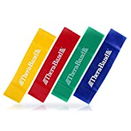TheraBand Resistance Band Loop Set, Pack of 4, 12 Inch Band Loop Kit for Legs & Butt Workouts, Beginner to Advanced Levels for Exercise, Rehab, Physical Therapy, Stretching, & Strength Training