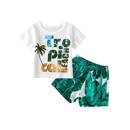 Ropa de bebé recién nacido bebé niño conjuntos manga corta carta impresión camiseta arce pantalones cortos verano trajes