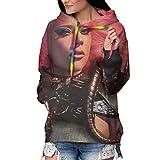 Nsafinhwv Lady Gag-A - Sudadera con capucha para mujer, diseño de Navidad y Halloween, color negro