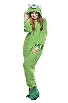 VU ROUL Unisex-adult Costumes Mike Onesie Pajamas Size Medium Green