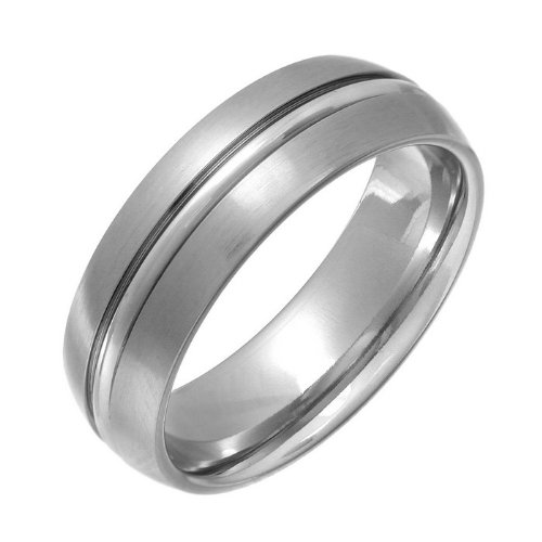 Theia Ring Cobalt Court Matt und gerillt 7mm - Größe 69 (22.0)