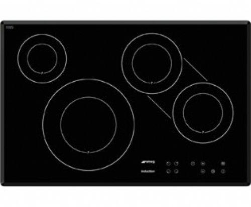 JJ SI3842B kookplaat zwart met inductie, glaskeramiek, 2200 W, 14,5 cm