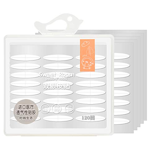 120Pairs Eye Tape Double Eyelid Tape Invisible Two-Side Eyelid Tape Stickers, Instant Eye Lift Without Surgery, Perfect for Hooded, Droopy, Uneven, or Mono-eyelids