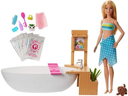 Barbie Bien-être coffret Bain Coloré avec poupée blonde,...