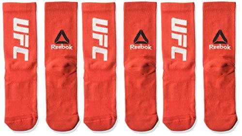 Reebok Herren UFC Crew Sock, Primal Red, Mens 5-6
