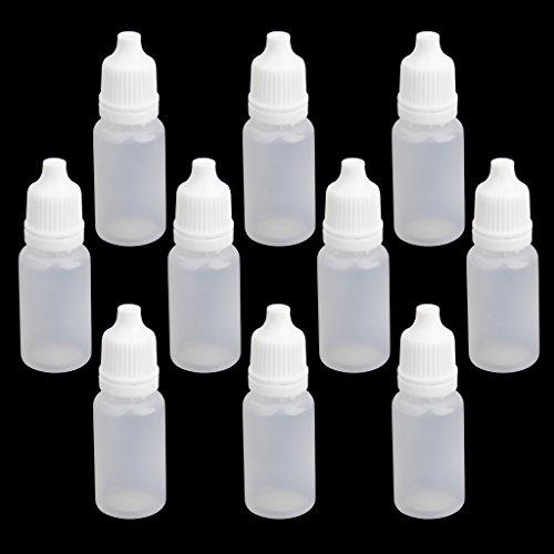 10pz 10ml Plastica Bottiglie Vuote Contagocce Comprimibili Per Collirio Laboratorio Liquido
