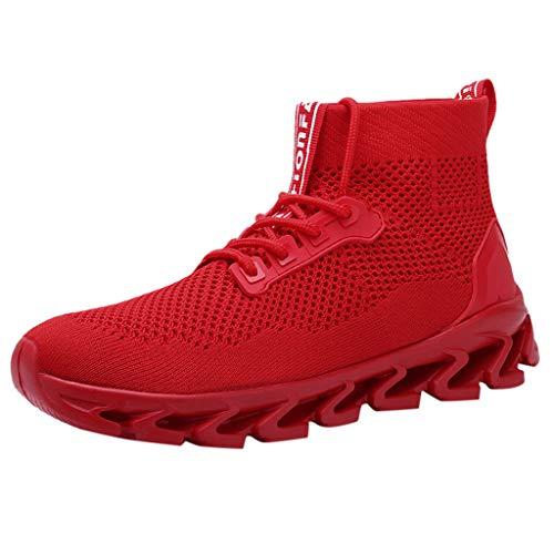 Vovotrade Hardloopschoenen voor heren, ademend, sportschoenen, sneakers, enkellange pols