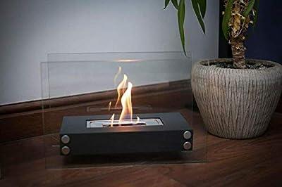 Bio Ethanol Fireplace Indoor Outdoor Camping Glass Top Burner Fire Scala