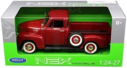 1953 Chevrolet 3100 Pick Up Truck Red 1/24-1/27 Diecast Model Car by Welly 22087