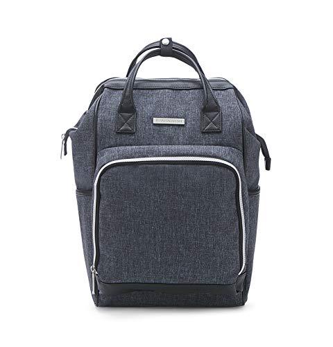Bolsa de fraldas Bananafish – Bolsa para fraldas com design multifuncional para cuidados com bebês ou viagens – Carregue ou use como mochila, Azul marino, MIDI BACK PACK