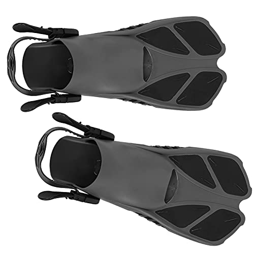 ROMACK Aletas para esnórquel/Buceo, Antideslizantes Aletas largas para Buceo Drenaje rápido Material Altamente Flexible para esnórquel/natación/Buceo(SG)
