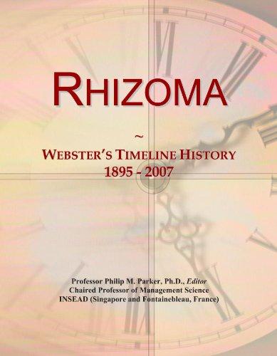 Rhizoma: Webster's Timeline History, 1895 - 2007