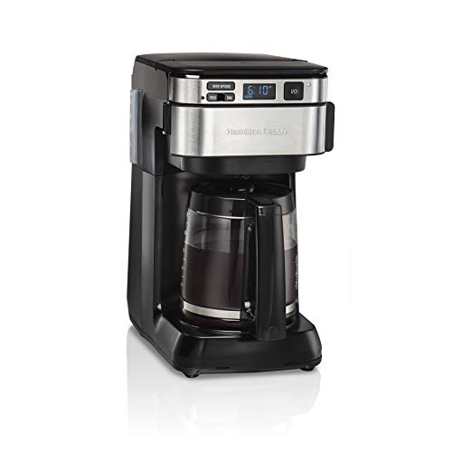 Find Bargain Hamilton Beach Programmable Coffee Maker, 12 Cups, Front Access Easy Fill, Pause & Serv...