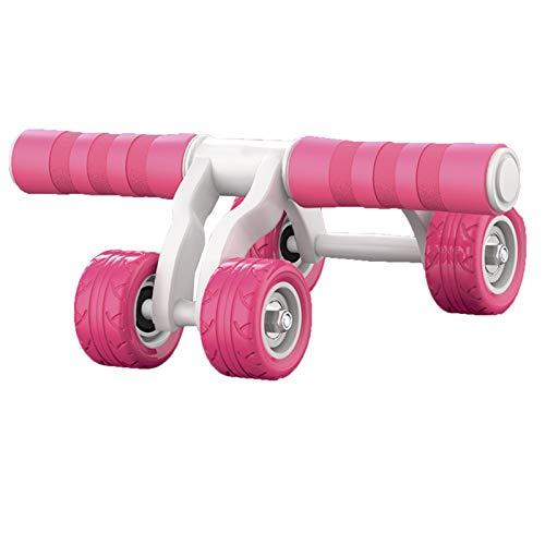 LUO'S Krafttraining & Bodybuilding Allrad-Bauchrad mit Knieschützer, Home-Use-Walze für männliche und weibliche Anfänger, Automatische Rebound, AB-Walze mit elastischem Seil und Push-up-Rahmen