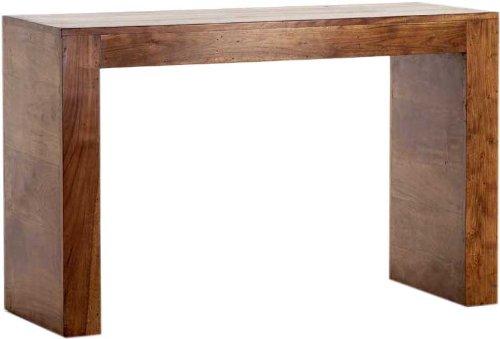Guru-Shop Bijzettafel R897, Bruin, Acaciahout, 76x120x45 cm, Salontafels Vloertafels