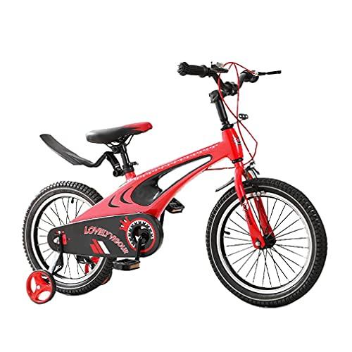 DHMKL 12/14/16/18 Pulgadas Bicis Infantiles Bicicletas NiñOs Marco AleacióN Magnesio Bicicleta con Cubierta Cadena Completa Manillar Altura SillíN Ajustable Adecuado NiñOs 2 A 9 AñOs