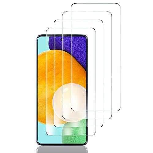 Luibor 4 Stücke Schutzfolie kompatibel mit Samsung Galaxy A51/A52, HD Bildschirmschutzfolie, 9H Festigkeit, Anti-Kratzen, Anti-Öl, Anti-Bläschen, Hülle Fre&llich, 2.5D R&e Kante