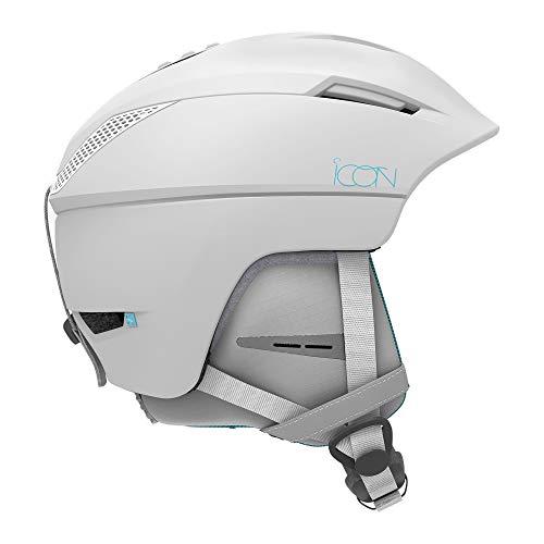 Salomon Damen Ski- und Snowboardhelm für die Piste, EPS 4D-Innenschaum, Größe M, Kopfumfang 56-59 cm, Icon², weiß, L40837400