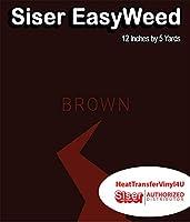 Siser EasyWeed アイロン接着 熱転写ビニール - 12インチ 5 Yards ブラウン HTV4USEW12x5YD