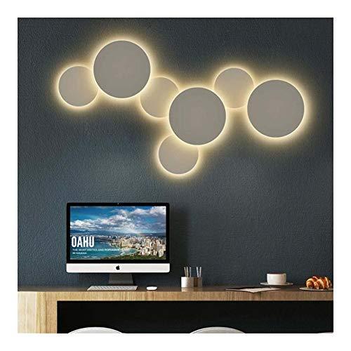 """DINGYGJ Kreative Wandleuchte LED-Licht, 5 """"7"""" 10\"""" runde Wandleuchte Dekoration, die Durchleuchtung Nachtlicht, 5W.Wall Beleuchtungskörper for Wohnzimmer Schlafzimmer (1 PCS) (Color : Warm light)"""