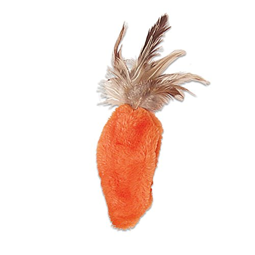 KONG - Refillables Carrot with Feather Top Catnip Toy
