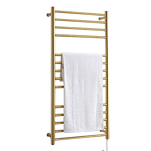 HYY-YY Mooie Golden Modern Multi-layer roestvrij staal Verwarming Elektrische Boor Geperforeerde Badkamer Home Hotel Bathroom Rack/Rack/Handdoekrek Multifunctionele