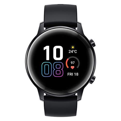 HONOR MagicWatch 2 42 mm Smart Watch, Fitness-Aktivitätstracker mit Herzfrequenz- und Stressmonitor, Übungsmodi, Lauf-App, schwarz