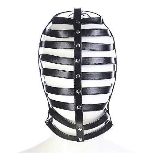 Sombrero de Rendimiento MK con Rayas Huecas de Cuero Todo Incluido Negro, Accesorio de Escenario, Sombrero Flotante Transpirable para Adultos