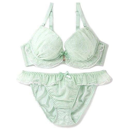 ブラジャーショーツセット Twinkle Sheer トゥインクルシアー ブラ&ショーツ ミント B65 [フランデランジェリー] fran de lingerie レディース 秋冬 下着セット 人気 上下 2点セット 肌着 bra 女性用下着
