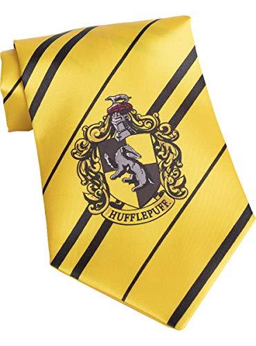 Funidelia | Harry Potter Hufflepuff Krawatte OFFIZIELLE für Herren und Damen ▶ Hogwarts, Zauberer, Film und Serien - Gelb, Zubehör für Kostüm