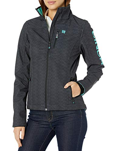 Cinch Women's Printed Bonded Concealed Carry Jacket, Black, XS