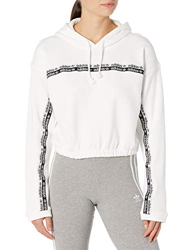 adidas Originals Damen Cropped Hooded Sweatshirt, weiß, X-Large