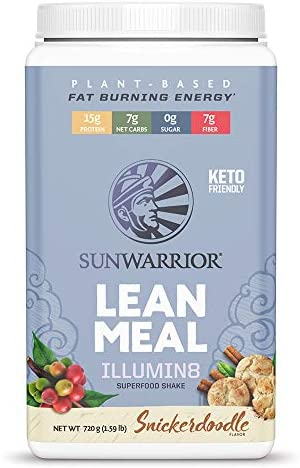 Sunwarrior Lean Meal illumin8 Vegan Superfood Meal Replacement Powder with Probiotics Organic product image