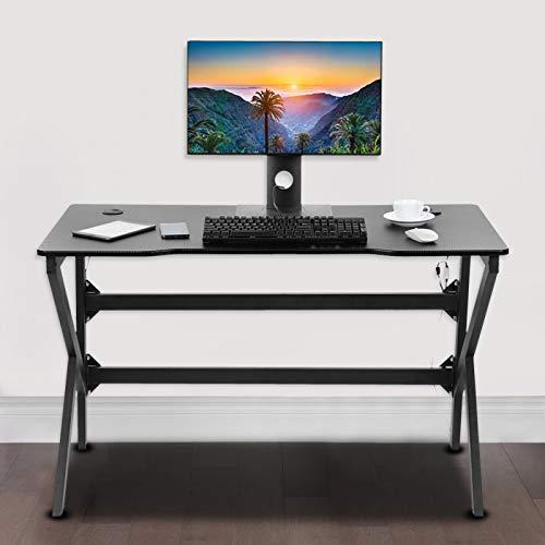 Escritorio ergonómico para Juegos 120cm Mesa de computadora USB Forma cóncava para Uso doméstico