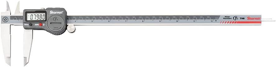 Starrett 798B-12/300 Digital Caliper, Stainless Steel, Battery Powered, Inch/Metric, 0-12