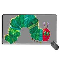 はらぺこあおむし (1) 滑り止めゴムパッドゲームマウスパッドキーボードラップトップコンピュータースピードマウスマウスpcデスクプロテクターマット ラージマウスパッド
