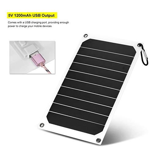 FOLOSAFENAR Cargador de Panel Solar Cargador de Panel de energía Solar 5V Salida USB Durable 10W Portátil Seguro, para cámaras, para Consolas de Juegos, con Mini Ventosa