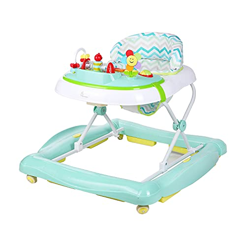 R for Rabbit Rock N Walk Baby Walker Cum Rocker The Anti Fall and Safe with Adjustable Height for Baby (Green)