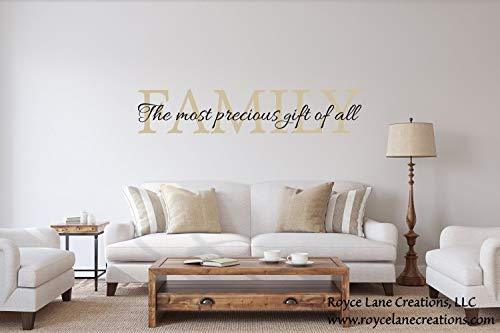 675ParkerRob Calcomanías de pared con citas familiares, el regalo más precioso de todos, citas familiares, citas familiares, carteles de vinilo con cita familiar