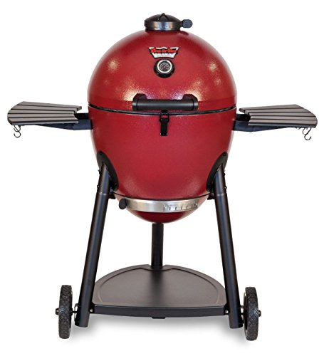 Char-Griller 06620 Akorn Kamado Kooker Charcoal Barbecue Grill and Smoker, Red
