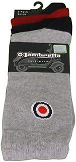 Lambretta Retro - Calcetines (3 unidades, talla 39-44)