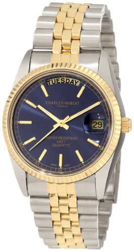 Charles-Hubert, Paris Men's 3401 Classic Collection Two-Tone Stainless Steel Watch