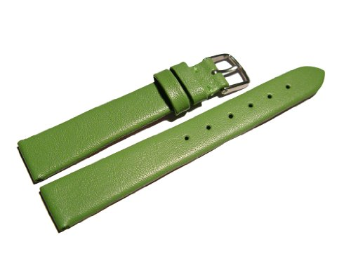 Orig. Watchband Berlin - Uhrenarmband - Business - glatt - grün - 16mm