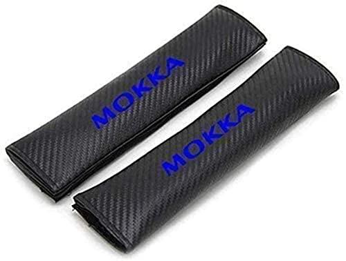 2 Piezas Coche Seguridad Cinturón Protectoras Fundas Almohadillas Para Opel Mokka, Proteger Cuello Hombro Suave Fibra Carbono Auto Interior Accesorios